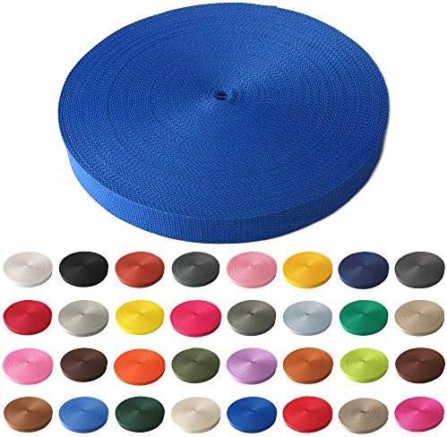 Schnoschi Gurtband Polypropylen 10 Meter lang – viele Verschiedene Breiten und Farben 10mm 15mm 20mm 25mm 30mm 40mm 50 mm (Royalblau, 25 mm)