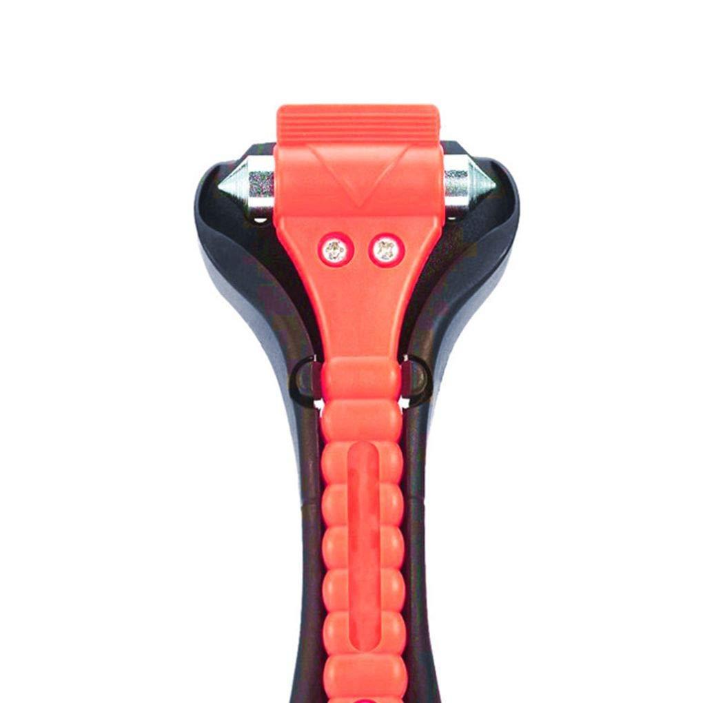 Martillo de la Emergencia de Cinturones de veh/ículos Cortador de Cristal de Ventana F-blue Escape de Mini Coche de Seguridad Rojo Breaker Hammer
