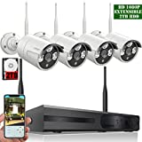 【2018 Update】OOSSXX 8-Channel HD 1080P Wireless System/IP Security Camera System 4Pcs 1080P 2.0 Megapixel Wireless Indoor/Outdoor IR Bullet IP Cameras,P2P,App, HDMI Cord & 2TB HDD Pre-Install