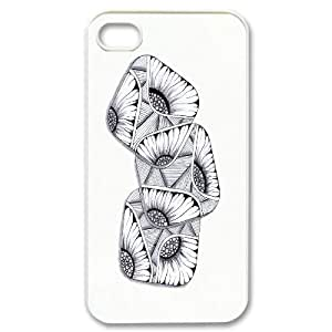 Colorful Sunflower Pattern Hard Plastic Back Phone Case for Iphone Case 4,4S HSL461866