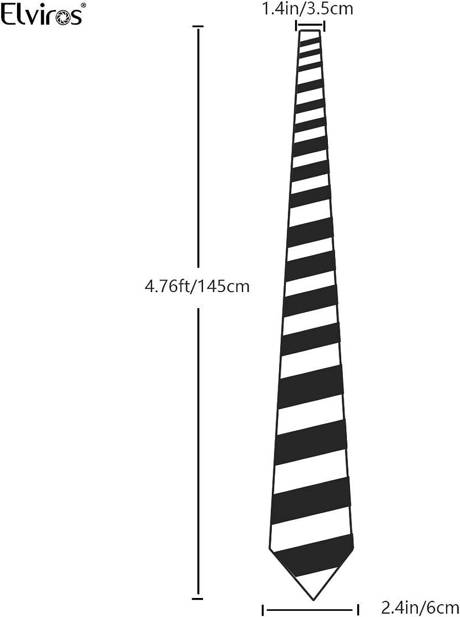 Elviros Corbata estrecha 6cm para hombres fina original para ...