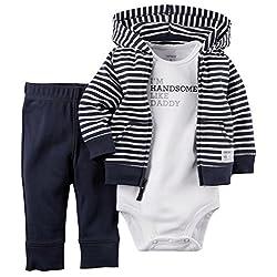 Carters Baby Boys 3-pc. Gentleman Hoodie Set