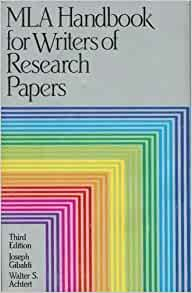 mla handbook for writers of research papers joseph gibaldi
