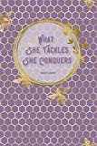 What She Tackles She Conquers: Lavender (6' X 9') Lined Notebook Journal Composition Book for Fans of Gilmore Girls Lorelai Rory Luke's Coffee Lovers