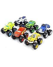 6 Pack Nickelodeon Blaze Machines Vehicle Toys,Fisher Price Nickelodeon Blaze and The Monster Machines, for Kids Boys