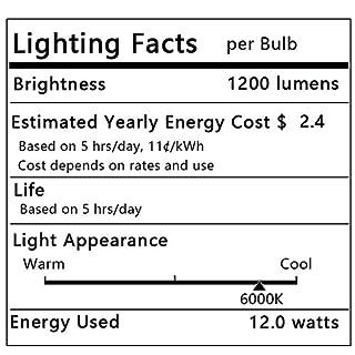 Bogao LED Candelabra Bulb,12W White 6000K LED Candle Bulbs, 85-100 Watt Light Bulbs Equivalent, E12 Candelabra Base,1200Lumens LED Lights,Torpedo Shape (4 Pack 6000K RB)