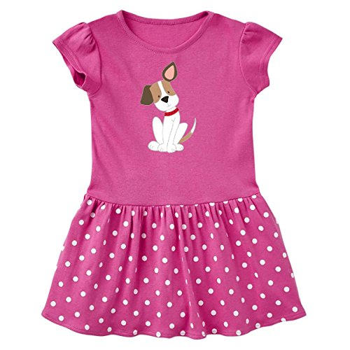 Dots Cotton Dog Collar (inktastic Dog With Ear up Toddler Dress 2T Raspberry With Polka Dots 266d5)