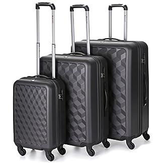 Aerolite Juego de maletas, gris (Gris) – ABS335 CHARCOAL 3 PC SET 20/25/29