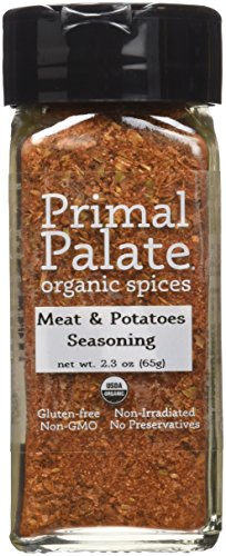 Certified Spice Organic (Primal Palate Organic Spices Meat & Potatoes Seasoning, Certified Organic, 2.3 oz Bottle)