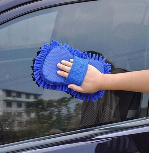 PeachFYE 2pcs Car Wash Gloves Car Cleaning Sponge Car Window Cleaning Ultrafine Fiber Chenille Anthozoan Washer Sponge Brushes by PeachFYE (Image #4)