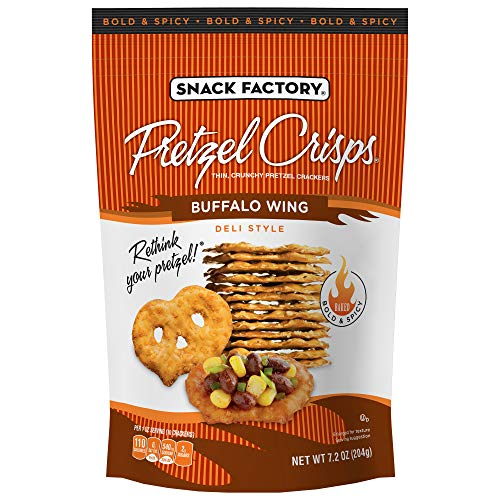 Snack Factory Pretzel Crisps, Buffalo Wing, 7.2 Ounce (Pack of 12)
