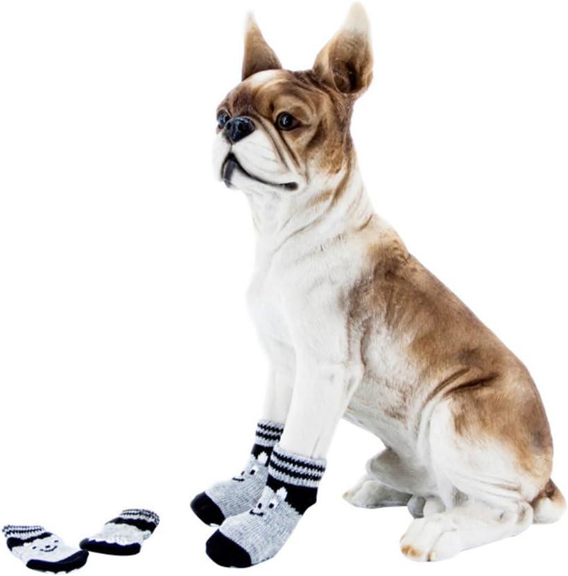 Luxsea Pet Dog Cat Cotton Anti-Slip Socks Puppy Knit Weave Warm Skid Bottom Shoes