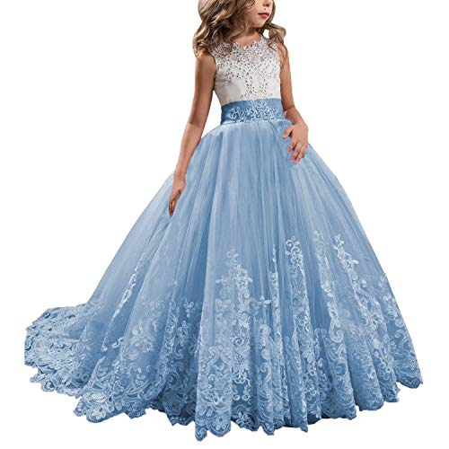 KSDN Wedding Flower Girls Dresses Princess Gowns First