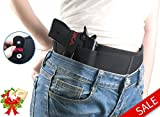 (US) DINOKA Holster- Concealed Carry Belly Band Holster Elastic Waist Band Gun Holster -Breathable&Quick to Dry-Fits for Small Frame Pistols,Handguns, Revolvers-For Men & Women- Right Hand Draw(Black)