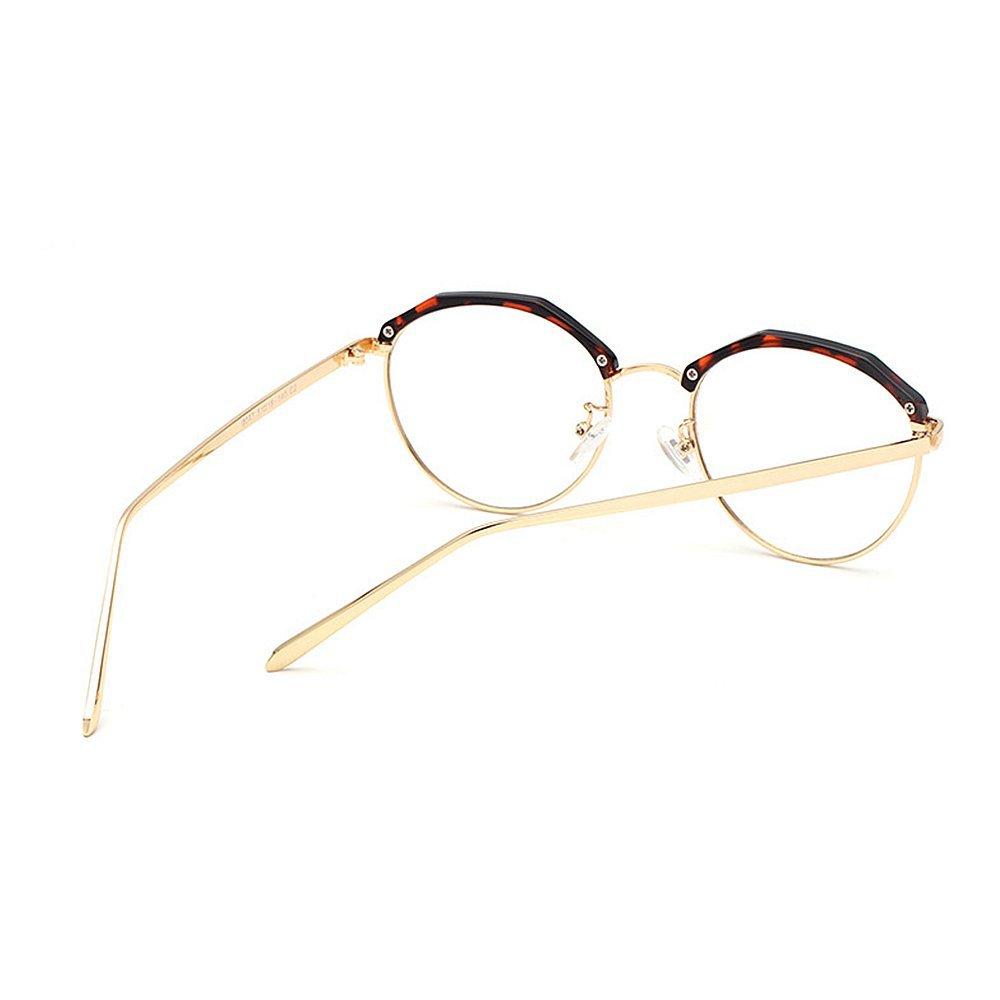 Marco poligonal con estilo redondo gafas de sol semi-sin montura ...