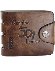 Mens Genuine Leather Bifold Wallet F1240 brown