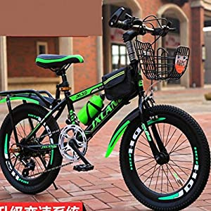 Comeon Children's Bicycle Kids Bike Mountain Bike 18/20/22 inch Freestyle Bicycle for 6-13 Years Old Kids with Water Bott and Bag