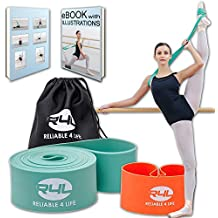 Reliable4life Ballet Stretch Band for Dancers, Ballerinas, Gymnastics, Fitness, Yoga - Improves Flexibility, Strength, Mobility - with Resistance Band, Carry Bag and Illustrated Stretching eBook