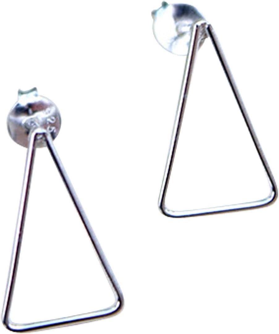 Triángulo Geométrico Plata Pendientes con modernista-gran Joyas Regalo!