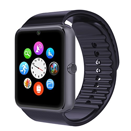 Otium One Bluetooth Smart Watch with NFC Cell Phone Watch Phone Mate For Android (Full functions) Samsung S3S4S5Note 2Note 3Note 4 HTC Sony LG and iPhone 55C5S66 Plus (Partial functions) (Charcoal Grey)