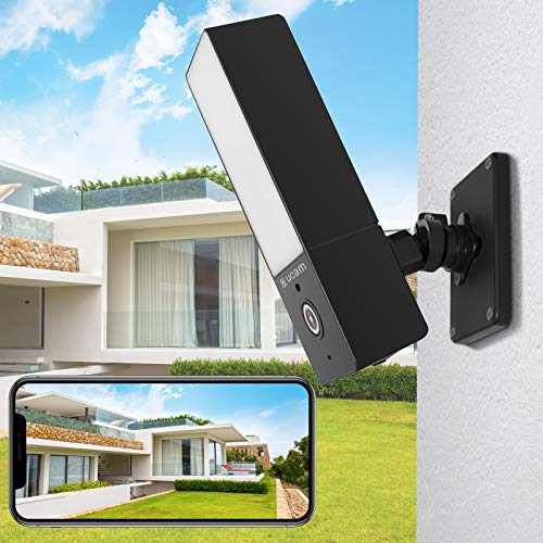 OUCAM Outdoor Camera Home Security Camera Floodlight Camera WiFi Security Camera Wireless Live Feed on Phone App, Night Vision Motion Detection Two-Way Audio, IP65 Weatherproof, Cloud Storage