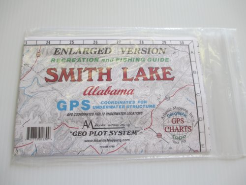 Smith Lake, Alabama Geographic Recrestion and Fishing Guide GPS Coordinates for Underwater Structures Topo ()