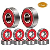 Spruce Skateboard Bearing ABEC-9 Steel Skate Roller 10 PACK