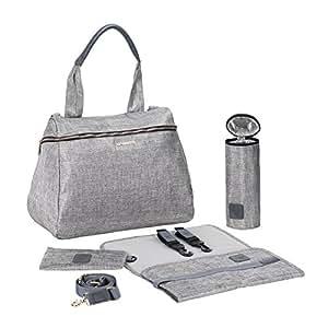 Lassig Women's Glam Rosie Baby Diaper Bag, Anthracite Glitter Silver