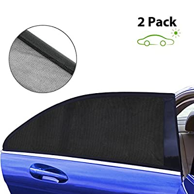 Asmader Car Window Shade, Cling Sunshade For Car Windows And Protects Your Baby for the Sun/UV, Universal Fits All (99%) Cars For The Side Window Sunshades (2 Pack)