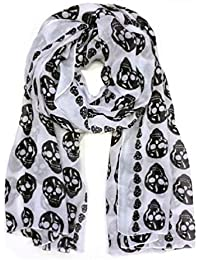 Cozy by LuLu Rock On Skull Print Scarf