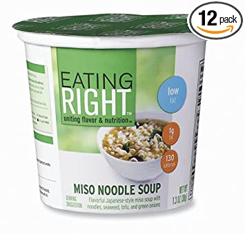 Eating Right Miso Noodle Soup 1 3 Ounce Cup Pack Of 12