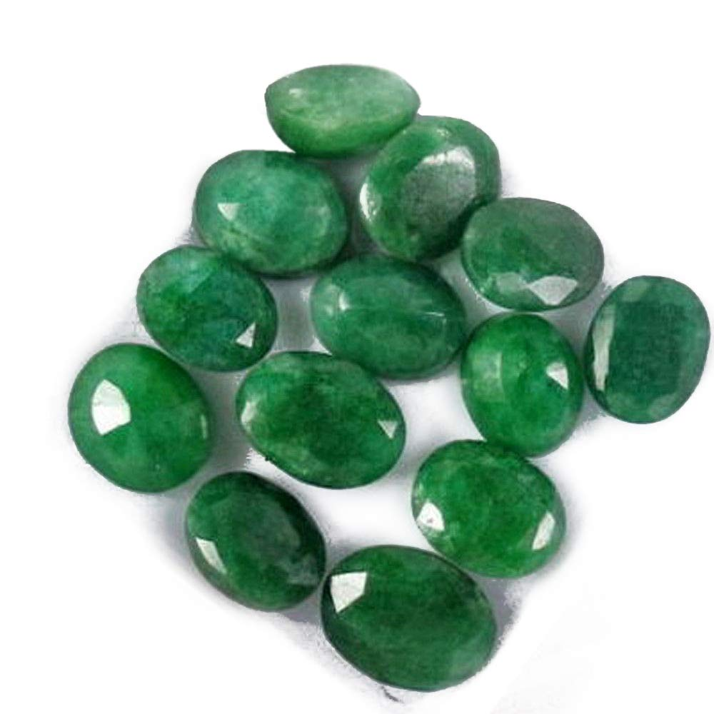 Special Offer Colombian Emerald 60 Ct - 12 Pcs Natural Oval Cut Green Emerald Loose Gemstones Lot hamlet e commerce AB-102