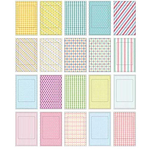 Decorative Paper Adhesive Colorful 20 Sheets Craft Paper Scrapbooking Gift Photo Decoration Stickers Polaroid Masking Craft Tape Paper Washi