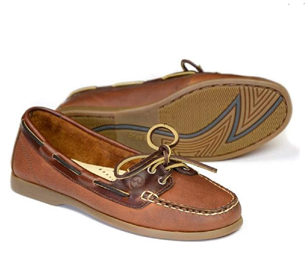 Ladies Orca Bay Schooner Navy /& Tan Nubuck Leather Lace Up Deck Shoes