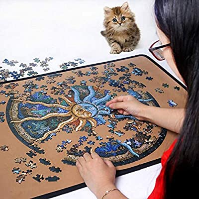 GrandeNero 500 Pieces Zodiac Horoscope Puzzle for Adults Jigsaw Puzzle Round Puzzle Size:48x48cm: Toys & Games