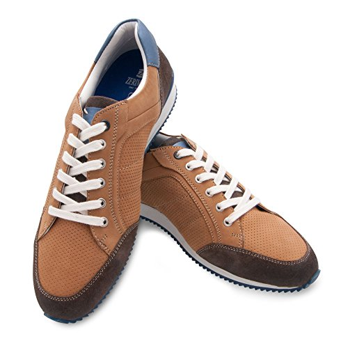 Zerimar Chaussures en Cuir Pour Homme Chaussure Homme Confort Couleur Tan Taille 45