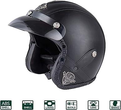 f/ür Roller und Motorrad Helm Exsential Demi Jet EX 730/VL Schwarz matt