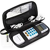 AUVON TENS Unit Case for HealthmateForever YK15AB TENS Machine, Portable Hard Travel Case with Hand Strap (Shockproof, Dustproof, Water Resistant and Lightweight)