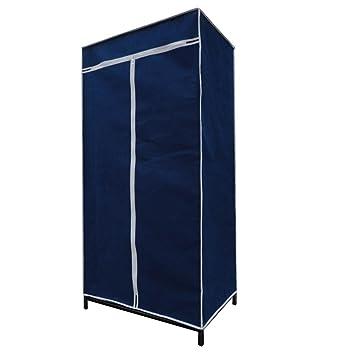 Kleiderschrank Blau Mit Reissverschluss Fur Keller Und Camping Amazon