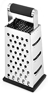 LOMONI Vertical Stainless Steel Grating Four-sided Boxed Grater For Cucumbers, Carrots And Cheese, Grater, Melon, Planing, Potato, Planer, Non-slip Handle,Peeler