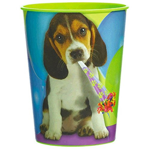 (Adorable Party Pups Plastic Cups Tableware, ,)