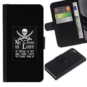 All Phone Most Case / Oferta Especial Cáscara Funda de cuero Monedero Cubierta de proteccion Caso / Wallet Case for Apple Iphone 5 / 5S // ninguna causa se pierde el movimiento del barco pirata