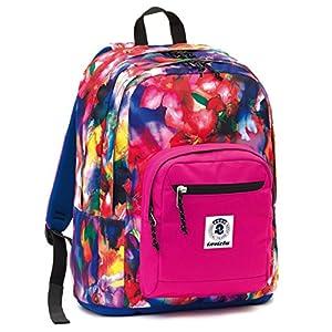 46fde04623 ZAINO INVICTA – FORMAT – Blue Rosa Fantasy – tasca porta pc padded – scuola  e tempo libero 33 LT