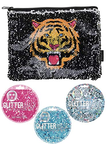 Fashion Angels Style.Lab Magic Sequin Pouch + Glitter Face Masks (Fierce (Angel Fashion Accessories)