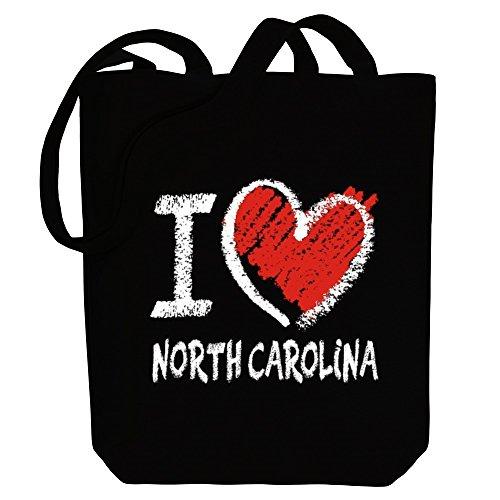 Idakoos I love North Carolina chalk style - US Staaten - Bereich für Taschen