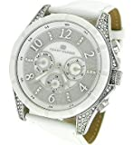 Tommy Hilfiger Women's White Leather Strap Watch with Crystal Details 1781142