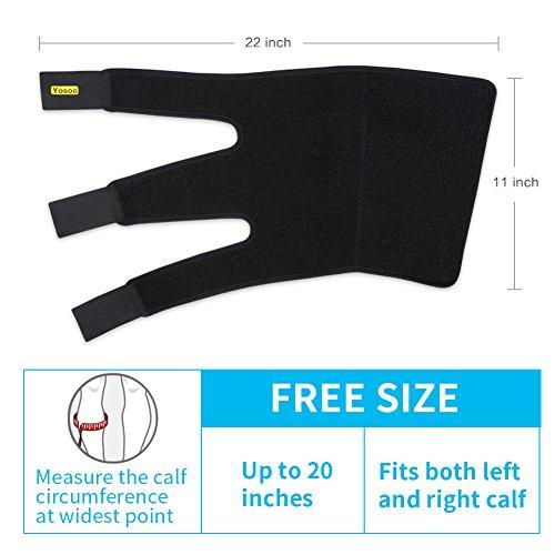 b32e62616e Yosoo Calf Brace Adjustable Shin Splint Support Sleeve Leg - Import It All