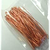 144 Head Pins .029dia X 3 Inch Copper Plating Over Brass Standard 21 Gauge Wire Beadsmith Headpins