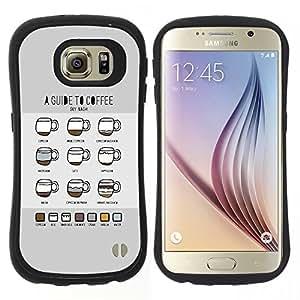 """Pulsar iFace Series Tpu silicona Carcasa Funda Case para Samsung Galaxy S6 , Gráfico Coffee Guías Guía Barista Copa"""""""