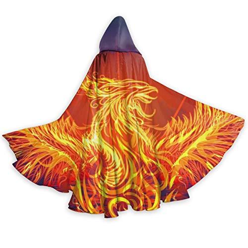 Phoenix Costumes Makeup - Unisex Party Cosplay Costumes Hoodie Cloak